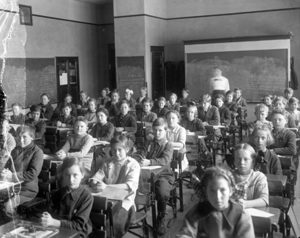 50s school kids