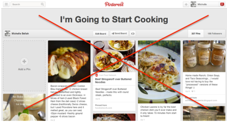 pinterest cooking board with x through it