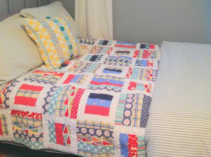 quilt on Trevor's bed