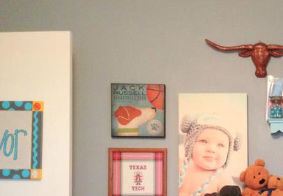 wall in Trevor's room