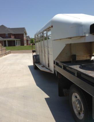 trailer in driveway