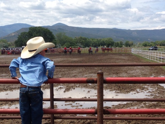 Trev on fence at rodeo