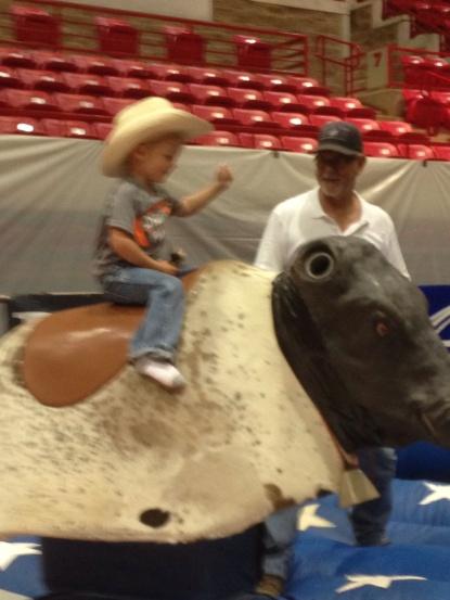 Trev riding bull