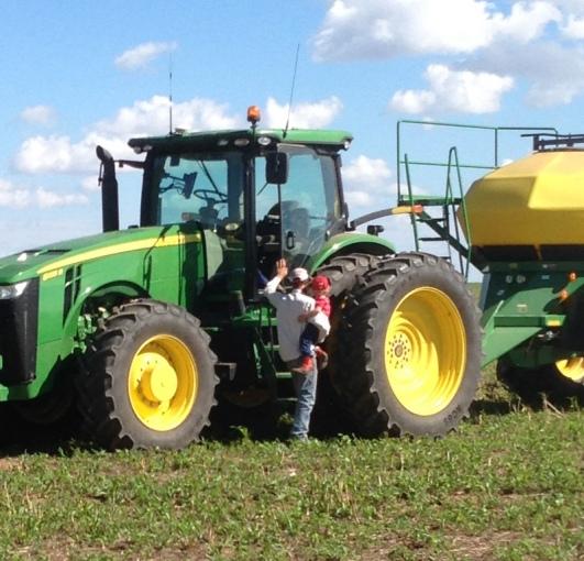 Trev and Matt on tractor