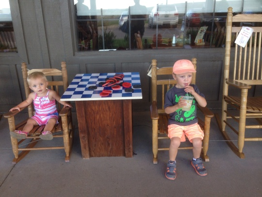 Kids at Cracker Barrel