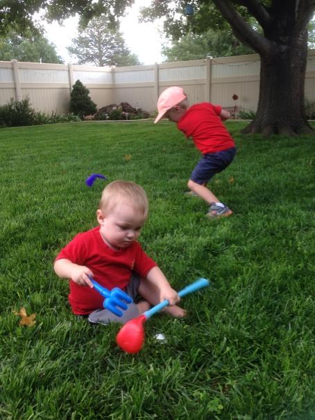 Colt and Trevor golfing