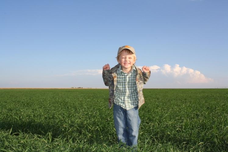 trevor in wheat field