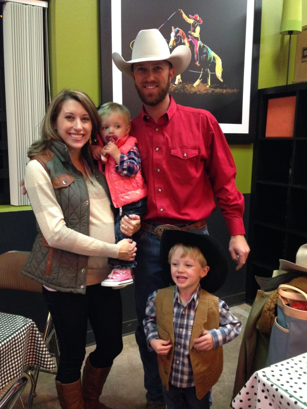 family at rodeo