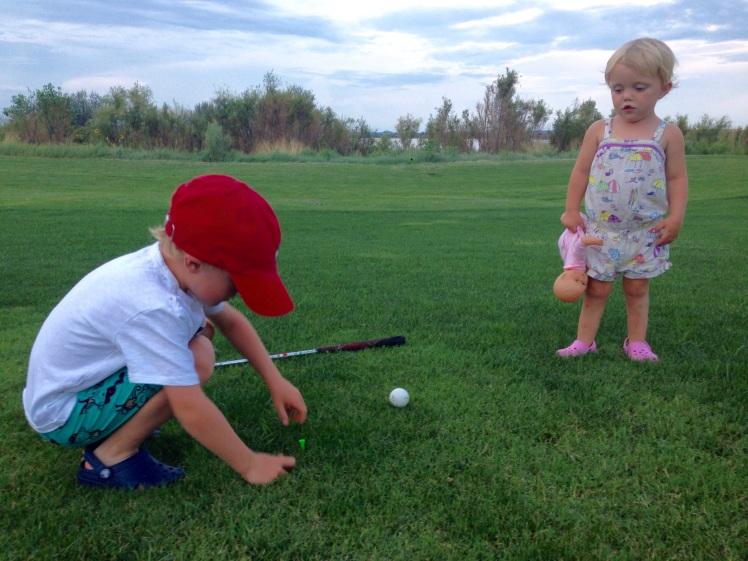 trevor and claire play golf