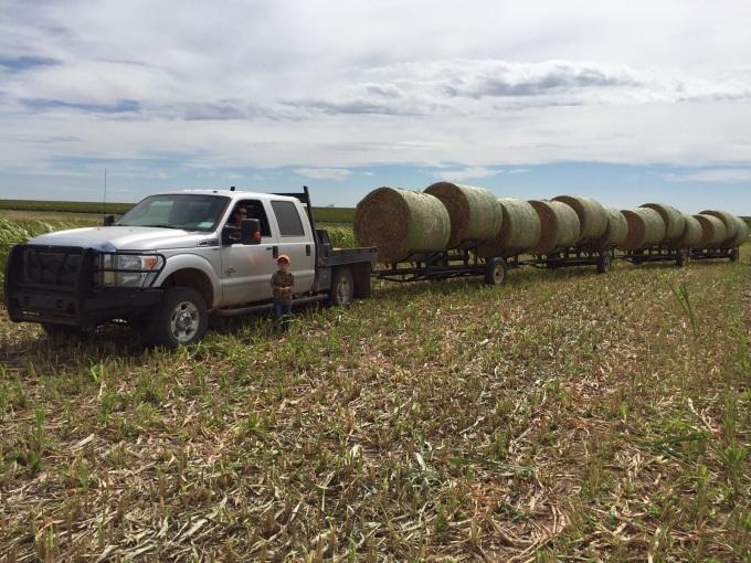 train of hay